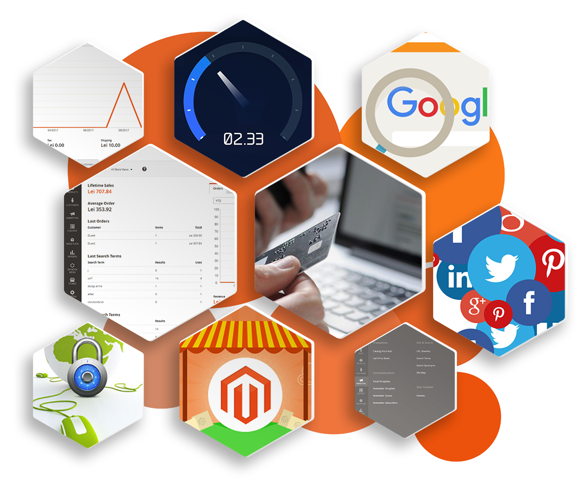 Logiq Design, Marketing Online Cluj, Promovare Online Cluj, Web Design Cluj, Magazine Online Magento, Ecommerce Cluj. Site Magento Cluj